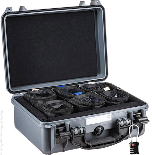 "Porta Brace Hard Case with Six 4"" Lens Cups (Gray)"