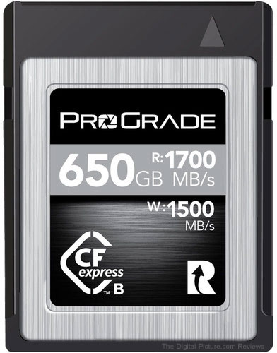 ProGrade Digital 650GB CFexpress 2.0 Cobalt Memory Card — $675.00 (Reg. $749.99, Save $74.99)