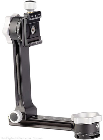 Really Right Stuff PG-01 Compact Pano-Gimbal Head with Screw-Knob Clamp and Flat Dovetail Base