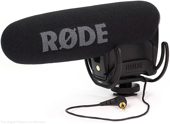 Rode VideoMic Pro with upgraded Rycote Lyre Suspension System