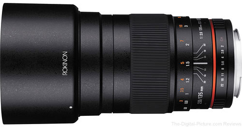 Rokinon 50mm f/1.4 and 135mm f/2 Manual Lenses in Stock at B&H