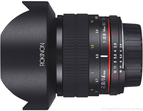 Rokinon 14mm f/2.8 IF ED UMC Lens For Canon EF with AE Chip  - $349.00 Shipped (Reg. $499.00)