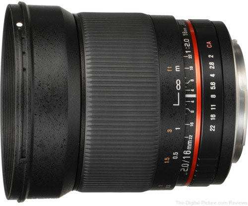 Prime Day Deal: Rokinon 16mm f/2.0 ED AS UMC CS Lens for Canon EF-S Mount - $239.96 Shipped (Compare at $349.95)