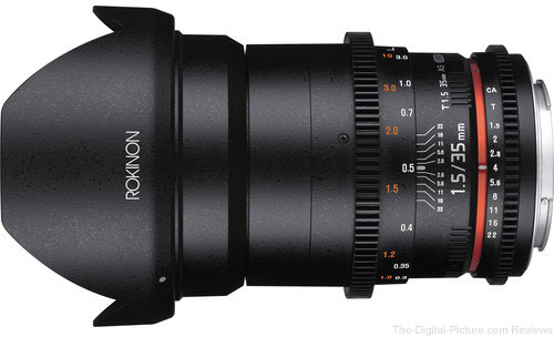 Rokinon 35mm T1.5 Cine DS Lens