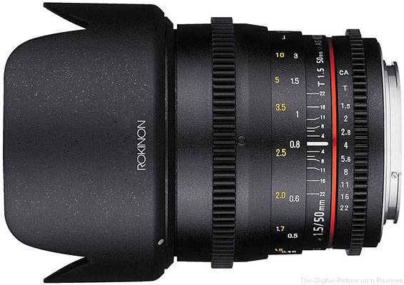 Rokinon 50mm T1.5 AS UMC Cine DS Lens for Canon