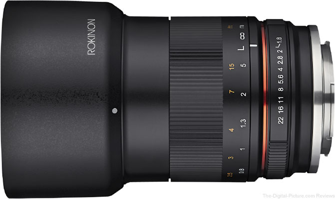 Rokinon Announces 85mm f/1.8 Compact Lens for Mirrorless Cameras