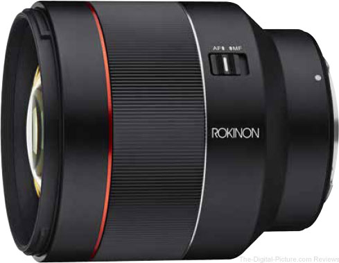 ROKINON Unveils AF 85mm F1.4 Prime for Canon EOS R Cameras