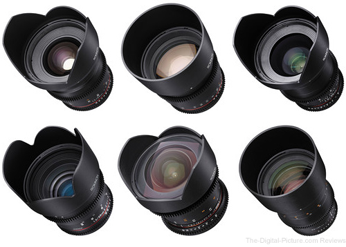 Rokinon Cine DS 6 Lens Kit - $2,494.00 Shipped (Reg. $3,344.00)