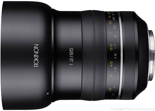Rokinon XP 85mm f/1.2 Lens for Canon