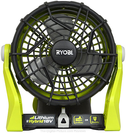 Ryobi 18 Volt 120 Volt One Plus Hybrid Fan