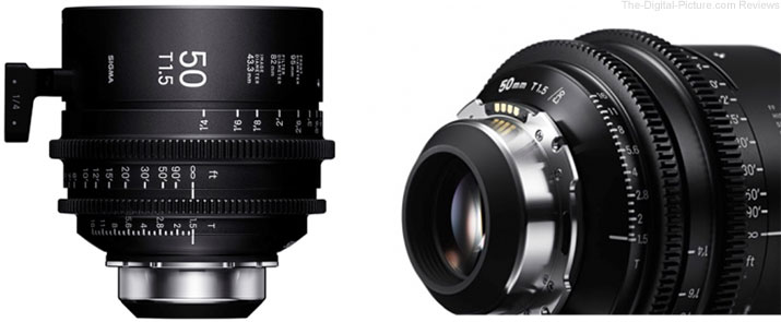 SIGMA Releases Shipment schedule for CINE LENS /i Technology-compatible PL mount Lens