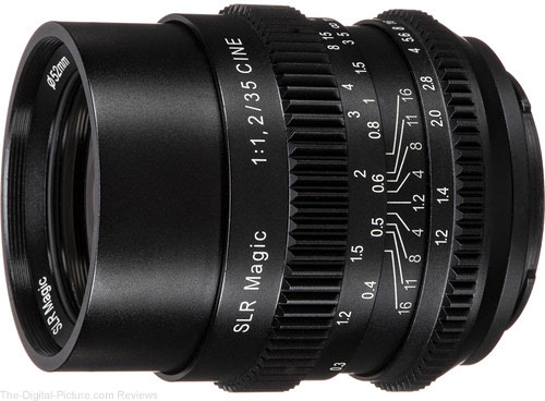 SLR Magic Cine 35mm f/1.2 FE Lens for Sony E