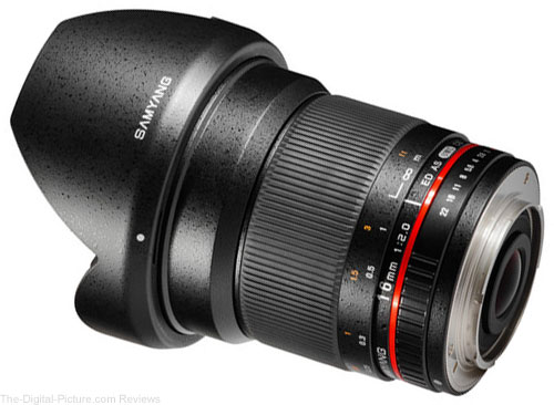 Samyang 16mm f/2.0 ED AS UMC CS Lens for Canon EF-M Mount
