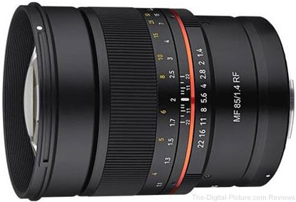 Samyang 85mm f/1.4 UMC Manual Focus Lens for Canon RF Mount