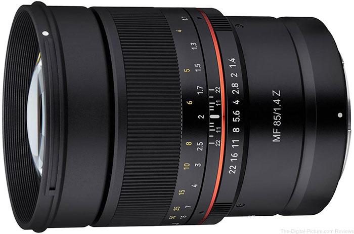 Samyang 85mm f/1.4 UMC Manual Focus Lens for Nikon Z
