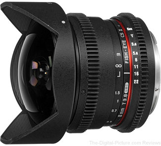 Samyang 8mm T3.8 UMC Fish-Eye CS II Lens In Stock at B&H