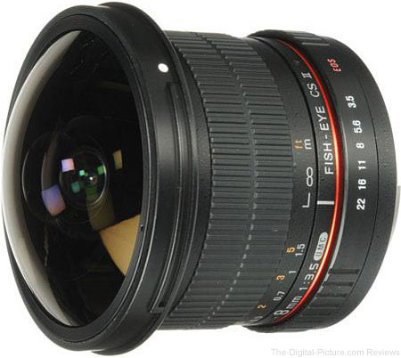 Samyang 8mm f/3.5 HD Lens with Removeable Hood