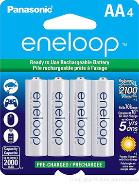 eneloop 2000 mAh Pre-Charged AA Batteries (8-Pack) - $16.98 (Reg. $26.99)