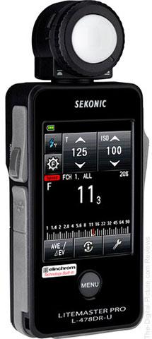 Sekonic LiteMaster Pro L-478DR-U-EL Series Light Meter for Elinchrom EL Skyport System