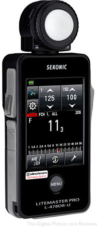 Sold: Used Sekonic LiteMaster Pro L-478DR-U-EL Series Light Meter for Elinchrom EL Skyport System (9) - $219.95 Shipped (Compare at $299.00)