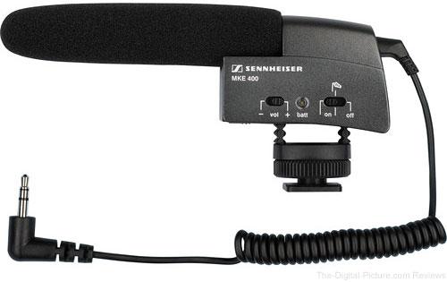 Sennheiser MKE 400 Compact Camera Mountable Shotgun Condenser Microphone