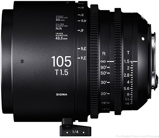Sigma 105mm T1.5 FF EF Mount In Stock at B&H