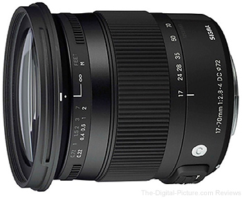 Sigma 17-70mm f/2.8-4 DC Macro OS HSM Lens for Canon In Stock