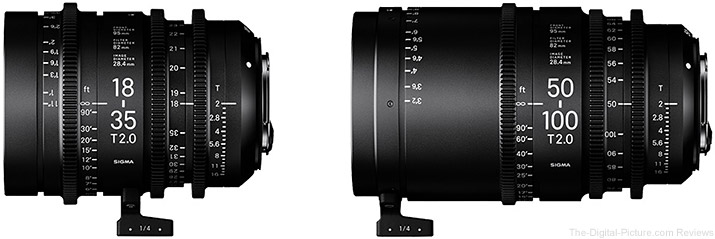 Sigma 18-35mm T2 / 50-100mm T2 Cine Lenses to Begin Shipping in December