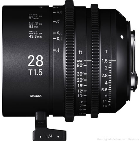 Sigma Announces Release of 28mm T1.5 FF Lens