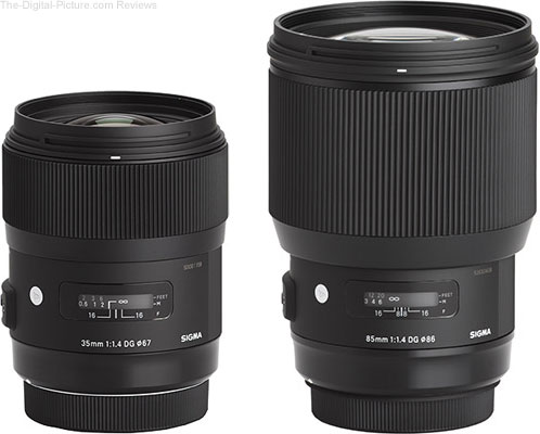 Sigma 35mm f/1.4 and 85mm f/1.4 DG HSM Art Lenses