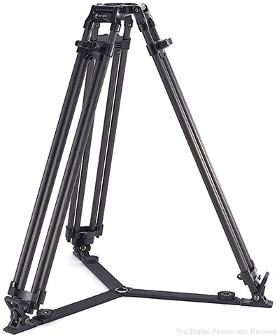 Sirui BCT-3203 3-Section 10x Carbon Fiber Video Broadcast Tripod