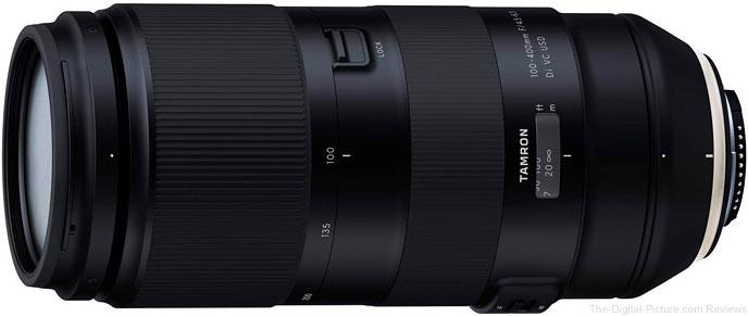 Tamron Announces Development of 100-400mm f/4.5-6.3 Di VC USD Lens