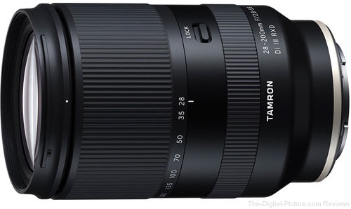 In Stock: Tamron 28-200mm F/2.8-5.6 Di III RXD Lens