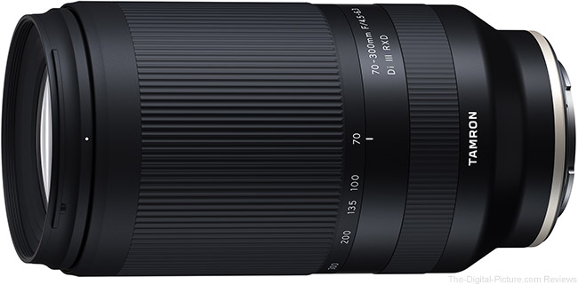 Now In Stock: Tamron 70-300mm f/4.5-6.3 Di III RXD Lens for Sony E