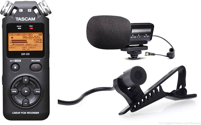 Tascam DR-05 Handheld Digital Audio Recorder w/ 2 Microphones