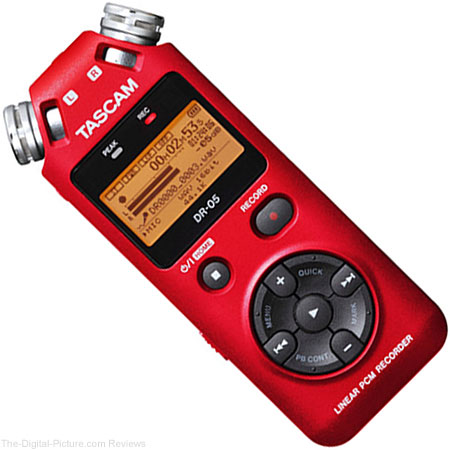 Tascam DR-05 Portable Handheld Digital Audio Recorder (Red) - $69.99 Shipped (Reg. $99.99)