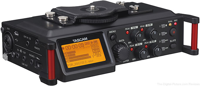 Tascam DR-70D DSLR 4-Channel Audio Recorder In Stock at Adorama