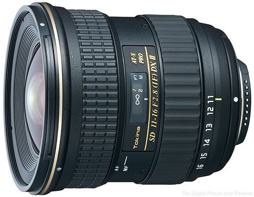 Tokina 11-16mm F/2.8 ATX Pro DX II Lens