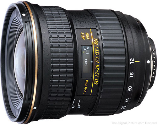 Tokina 12-28mm f/4.0 AT-X Pro APS-C Lens for Canon - $249.00 Shipped (Compare at $449.00)