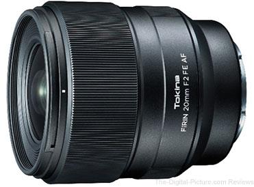 Tokina FÍRIN 20mm F2 FE AF Lens