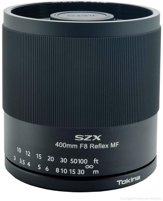 Tokina Adds Canon RF and Nikon Z Mounts to the Tokina SZX 400mm f/8 Reflex MF lens