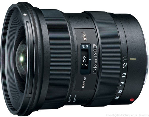 Tokina Announces the atx-i 11-16mm f/2.8 CF Lens