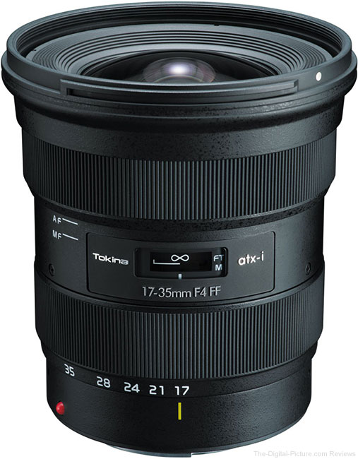 Tokina atx-i 17-35mm F4 FF Lens Announced, Roadmap Updated