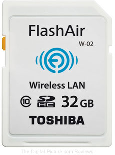 Toshiba 32GB FlashAir Wireless SD Memory Card