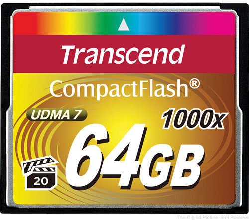 Transcend 64GB CompactFlash Ultimate 1000x UDMA Memory Card
