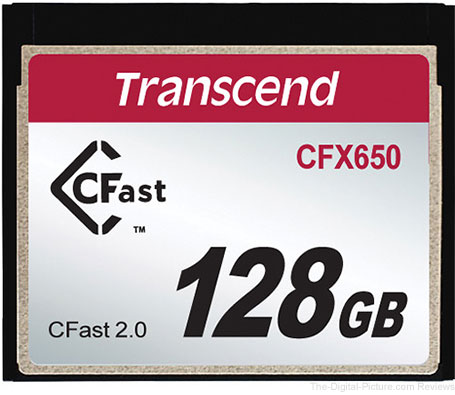Transcend CFX650 128GB CFast 2.0 Flash Memory Card