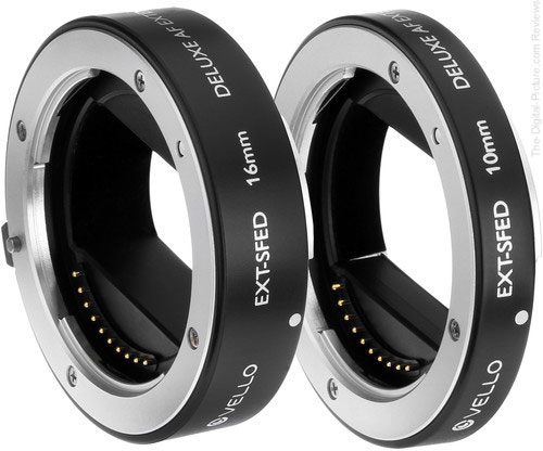 Vello Deluxe Auto Focus Extension Tube Set for Sony E Mount