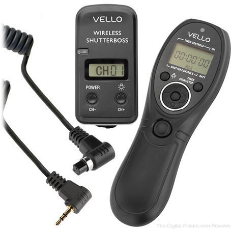 Vello Wireless ShutterBoss III Remote Switch with Digital Timer