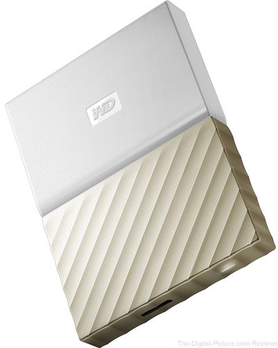 WD 1TB My Passport Ultra USB 3.0 External Hard Drive (White/Gold)
