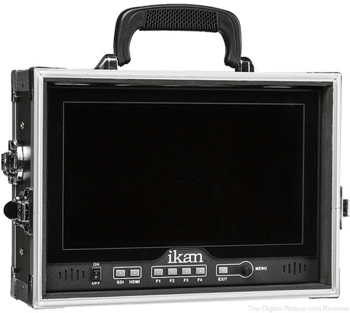 "ikan D12-FK 12"" HDMI/3G-SDI LCD Monitor Field Kit for V-Mount & Gold Mount with Hard Case - $699.00 Shipped (Reg. $1,299.00)"